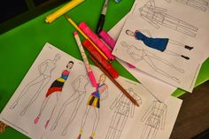 To get warmed up, the girls were given blank fashion design templates and asked to draw an outfit inspired by a work of art that we discusse...