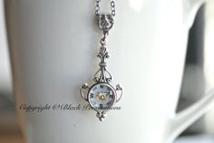 Compass Jolie Necklace - Working Compass - Made in USA Findings - Antique Silver Working Compass, Victorian Fashion, Joli, Metal Jewelry, Antique Silver, Handmade Items