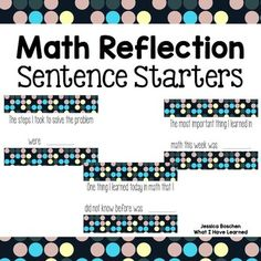 These sentence starters are designed to be uses both orally and in writing to help students express their mathematical thinking. Practice and model them whole group, encouraging students to use them when sharing their ideas. Math Writing, Common Core Writing, Writing Anchor Charts, Math Literacy, Guided Math, Math Classroom, Teaching Math, Primary Teaching, Math Education