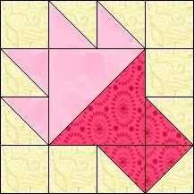 Block of Day for December 08, 2016 - Raspberry Compote-strip piecing-The pattern may be downloaded until: Saturday, December 31, 2016.