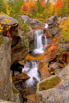**Would love to take a waterfall trip around the world. This Autumn Waterfall photo is gorgeous.