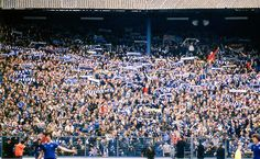 Chelsea fans pack in to the Shed at Stamford Bridge in the 1980's