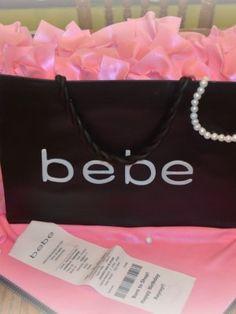 Teenage Girl's Bebe shopping bag Birthday cake