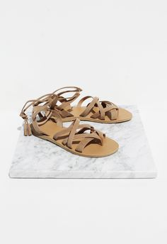 Valia Gabriel Pink Gin Sandal in Cumin- The Lady & The Sailor | Crafted In The USA