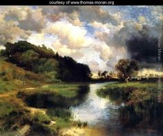 Cloudy Day At Amagansett - Thomas Moran - www.thomas-moran.org