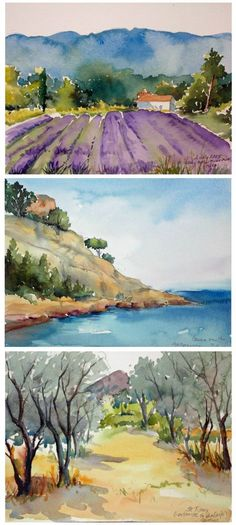 """Your Week in Provence provides ample time for experiencing the beautiful landscape and characters of the Provence Region with an emphasis on Hands-On instruction in Watercolor Painting with Jo Williams. This and so much more is what you will experience during your """"A Week in Provence-Watercolor Experience"""" with Artistic Gourmet Adventures and Jo Williams."""