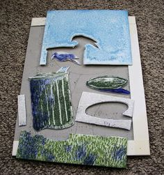 my printmaking journey: demo relief print made from Styrofoam - jigsaw block technique