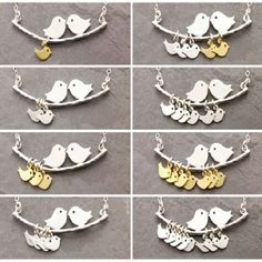 1-8 Rodzajów miłość ptaki naszyjnik Proste Moda gałęzi drzew i ptak naszyjnik matki biżuteria Hot selling