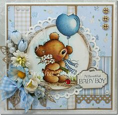 I think this card is too sweet with its color combination and the arrangement of all the elements.