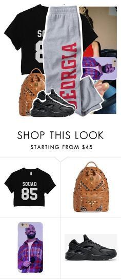 """lowkey likin this"" by naebreezy ❤ liked on Polyvore featuring MCM and NIKE"