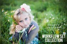 Pretty Presets Workflow Set for Lightroom 3, 4 and 5.  Create your own custom look!