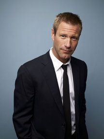 Never really thought about it, but Aaron Eckhart has a very handsome guy-in-the-next-cubicle look about him.  The guy who has been your friend when all of a sudden he makes you laugh so hard you choke on your salad at lunch and you realize just how handsome he really is.
