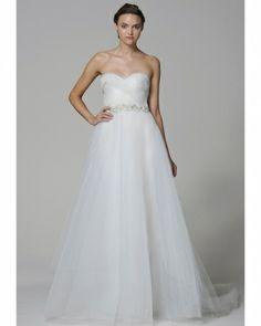Marchesa A Line Wedding Dress Spring 2013 Wedding Looks, Bridal Looks, Bridal Style, Wedding Stuff, Wedding Pins, Dream Wedding Dresses, Designer Wedding Dresses, Bridal Dresses, Bridal Fashion Week
