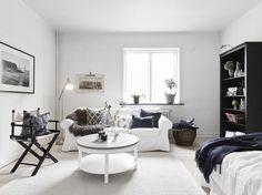 white & black studio apartment