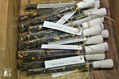 Tubos de té. Detalles para los invitados de la boda.  Un kit que incluye todo el material necesario para montarlos tu mism@.
