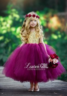 Giselle: Burgundy and Gold Sequin Gown - foxybrown - Giselle: Burgundy and Gold Sequin Gown Burgundy & Gold Giselle Flower Girl Dress Gowns For Girls, Tutus For Girls, Little Girl Dresses, Girls Dresses, Beautiful Girl Dresses, Pageant Dresses, Party Dresses, Little Girl Tutu, Kids Girls