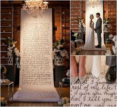 unique backdrops for weddings | Unique Display Ideas for Written Vows at the Wedding - Bajan Wed