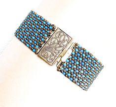 Multicolor bead cuff bracelet/seed bead bracelet/boho jewelry/bracelet for women/silver and blue bracelet/jewelry gift/bead jewelry by beadnurse on Etsy Beaded Cuff Bracelet, Seed Bead Bracelets, Seed Bead Jewelry, Boho Jewelry, Seed Beads, Jewelry Gifts, Beaded Jewelry, Jewelry Bracelets, Unique Jewelry