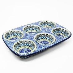 polish-pottery-muffin-pan-#1858