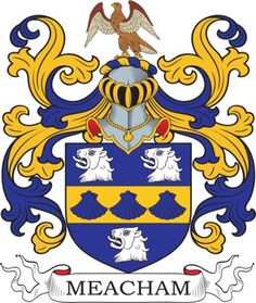 Meacham Family Crest and Coat of Arms