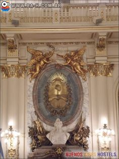 Escudo en el Salón Blanco de la Casa Rosada