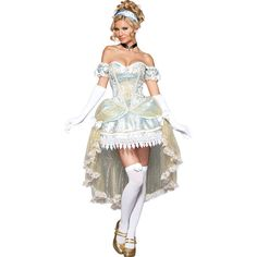 Passionate Princess Adult Womens Costume – Spirit Halloween ($190) ❤ liked on Polyvore featuring costumes, cinderella, halloween, adult cinderella costume, adult halloween costumes, party halloween costumes, sexy adult costumes and womens cinderella costume