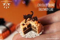 Chocolate Orange Halloween Cake - 1/12 scale dollhouse miniature by Hummingbird Miniatures, via Flickr