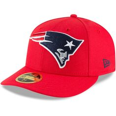 Men s New England Patriots New Era Red Omaha Low Profile 59FIFTY Fitted Hat d5abb2da8