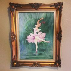 My Great Grandmother was commissioned to paint two ballerina painting for the Ballet House in OKC many years ago.  They hung there for years before getting passed down to a new generation. #BabyRuettinger nursery