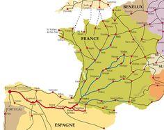 chemin de Saint Jacques de Compostelle- randos vers St jacques de Compostelle, France