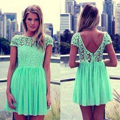 Mint green dress love it