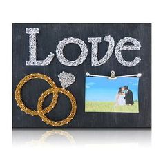Wedding Rings Picture Frame Kit #DIYDecor