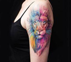 lion tattoo by versus ink