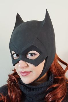 Its time to protect Gotham, and just in time for Halloween!  Handmade Batgirl cowl loosely inspired by the Arkham Knight video game. This cowl
