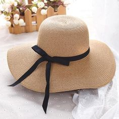 8e517927404 summer straw hat women big wide brim beach hat sun hat foldable sun block  UV protection panama hat bone chapeu feminino