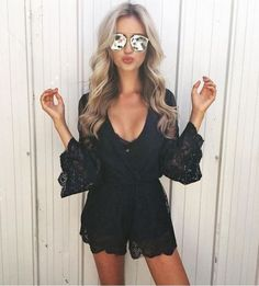 Cute date night outfits for summer! Summer outfits that are perfect for a night out with your boyfriend! Your s/o will love these cute date night outfits for your next outing. Date Night Outfits, Sexy Date Outfit, Black Romper Outfit, Cute Date Outfits, Date Night Outfit Summer, Trendy Summer Outfits, Evening Outfits, Spring Outfits, School Outfits