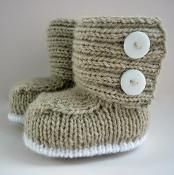 Jaden Knitted Baby Boots - via @Craftsy
