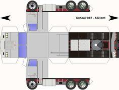 Free Download Paper Model Trucks | Kenworth-K123-grijs