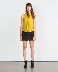FRILLY BLOUSE-View all-Tops-WOMAN | ZARA United States