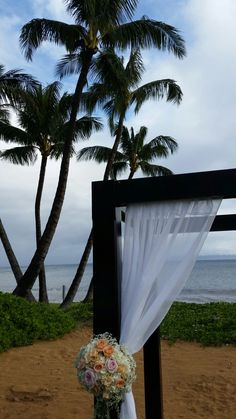 Canopy and palms @sugarbeachevent @countrybouquetsmaui