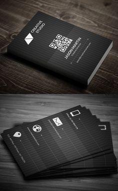 Metro Dark Business Card #businesscards #corporatedesign #businesscarddesign #psdtemplates: