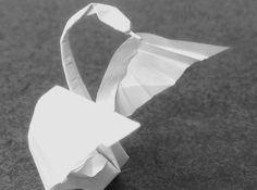 basteln origami tiere romantisch scchwan vogel figur