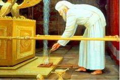 The Temple Institute: Yom Kippur in the Holy Temple: Placing the Coals Down: First Temple James White, Arc Of The Covenant, Bible Study Materials, Arte Judaica, Bible Images, Biblical Art, Biblical Symbols, Yom Kippur, The Tabernacle