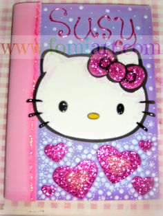 libretas decoradas foami de kitty - Buscar con Google