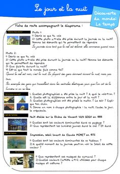 DDM : Le jour et la nuit. French Classroom, Cycle 3, Science, Teaching French, Learn French, Comprehension, Homeschool, Images, Learning