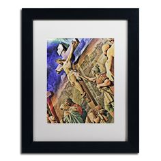 Altar of Calvary by Gregory O'Hanlon Matted Framed Painting Print
