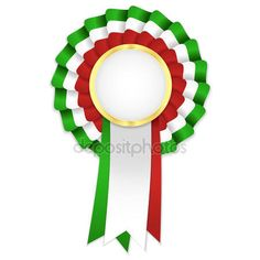 iconswebsite.com icons website Search over +6,500,000 icons , icon set, web icons, logo, business icons, button, people icon, symbol - Tricolor rosette with golden frame and green, white and red ribbon