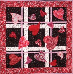 1000 Images About Heart Patchwork Quilt On Pinterest