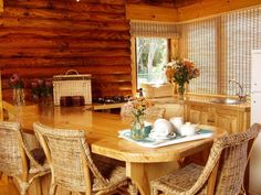 Abalone Lodges kitchen in the double story lodge