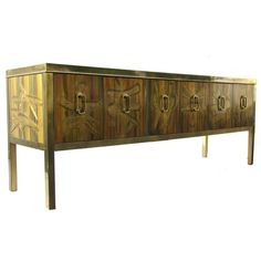 Bernhard Rohne for Mastercraft Credenza Sideboard Cabinet | From a unique collection of antique and modern credenzas at https://www.1stdibs.com/furniture/storage-case-pieces/credenzas/